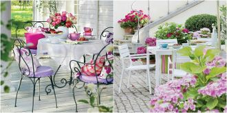 Wstarczy stół i wygodne krzesła lub fotele w odpowiednim stylu oraz nastrojowe dekoracje i dodatki.