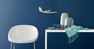 Krzesło Bloom w towarzystwie stołu Heron. CALLIGARIS