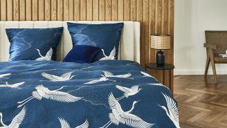 niebieska pościel do sypialni