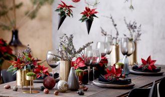 dekoracje bożonarodzeniowe w wazonach