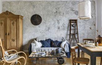 mieszkanie urzadzone meblami z odzysku