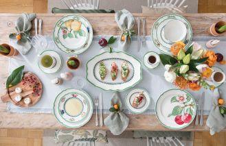 porcelana i zastawa stołowa na letni stół