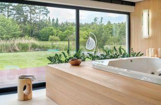 styl nowoczesny łazienka z drewnem