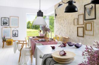 biała jadalnia urządzona w stylu skandynawskim