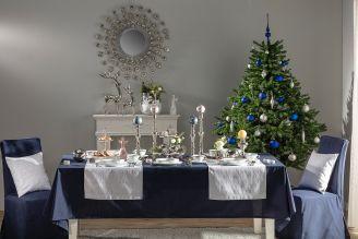 dekoracje bożonarodzeniowe granat i srebro
