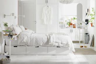 pomysłowe szafki i schowki do sypialni