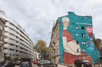 """Michał Warecki mural """"Boskie matki"""""""
