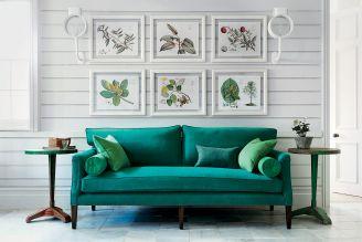 tkaniny dekoracyjne w kolorze zieleni