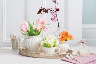 wiosenne dekoracje z tulipanów