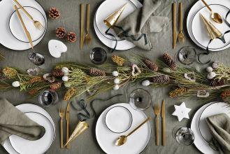 dekoracja stołu na boże narodzenie