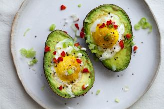 Jajka zapiekane w awokado