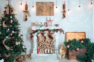 aranżacja świąteczna salon