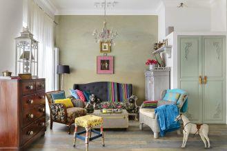 mieszkanie urządzone w artystycznym stylu