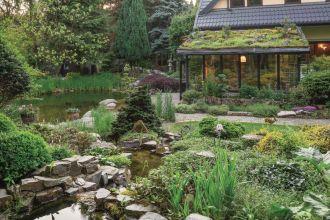 pomysł na ogród ze stawem