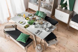 rozkładany stół do jadalni prostokątny