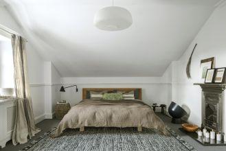 biała sypialnia styl skandynawski