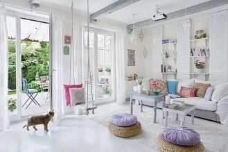 białe wnętrza domu w krakowie