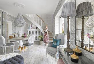 dom urządzony w stylu country glam