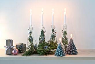 dekoracje na okno świece