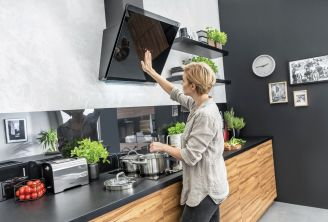 okapy i płyty do nowoczesnej kuchni