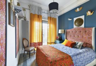 sypialnia w artystycznym stylu