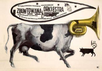 Franciszek Starowieyski Plakat do filmu Zbuntowana orkiestra , 1960 r., MUZEUM ŚLĄSKIE W KATOWICACH