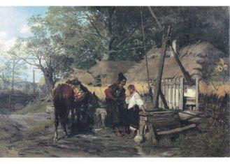 Józef Brandt, Kozak konia poił , 1874 r., cw 490000 zł, niesprzedany, Rempex.
