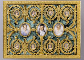 Pozytywka z portretami rodziny króla Ludwika Filipa I, 1825 r.