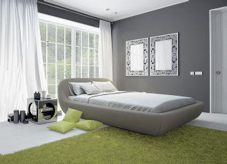 szara sypialnia pomysł