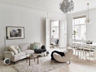 10 salonów w stylu skandynawskim