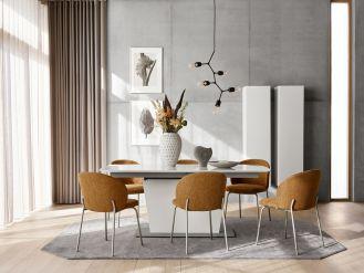 prostokątny stół do jadalni