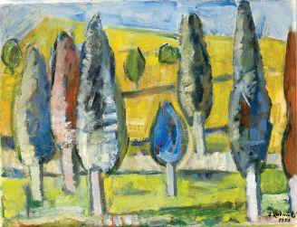 Zygmunt Radnicki: Widok z Czarnej Góry, 1953 r.