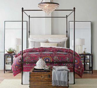 sypialnia inspiracje łożko stylowe