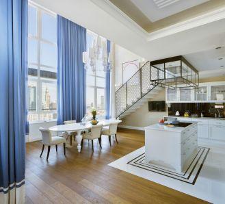 Nowoczesny i luksusowy penthouse w warszawskim drapaczu chmur