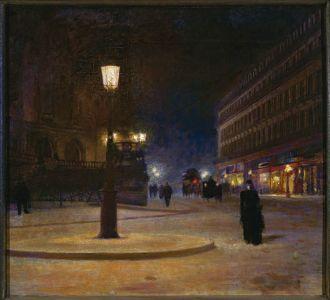 Ludwik de Laveaux, Plac opery w Paryżu , 1893 r., MUZEUM NARODOWE W WARSZAWIE