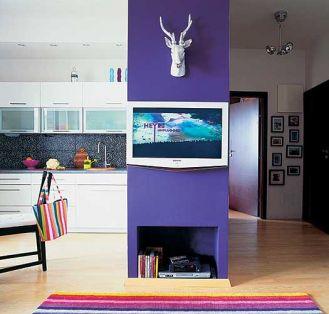 Ścianka zaprojektowana specjalnie pod telewizor.