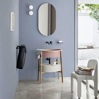 kolorowa umywalka do nowoczesnej łazienki