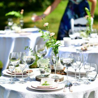 nakrycie stołu na garden party