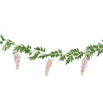 girlanda ze sztucznych kwiatów