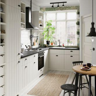 jak urządzić małą kuchnię z oknem