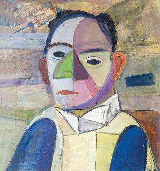 Mężczyzna w żółtej kamizelce , 1965 r.