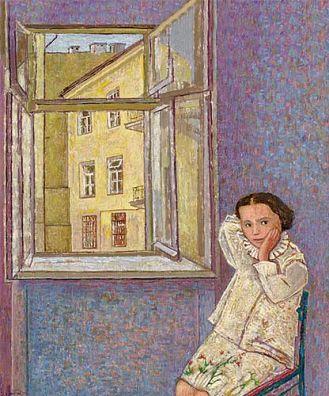 Lucyna Patalita Przy oknie , 2002 r.