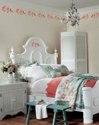 Freski w sypialni. Na gałązce