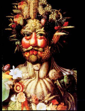 Vertumnus (portret Rudolfa II) , 1590 r., Giuseppe Arcimboldo, fot. FORUM