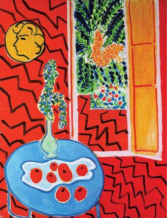 Henri Matisse Czerwone wnętrze z martwą naturą , 1947 r.