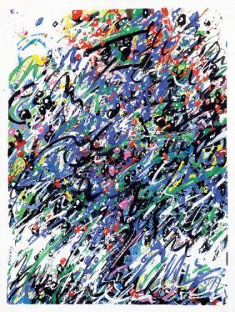 Waldemar Świerzy Projekt plakatu KAW , 1984 r, cw 4500 zł, DESA UNICUM