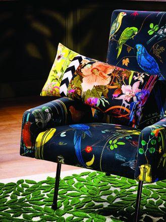 Poduszka Herbarium Crepuscule, Orchids Fantasia Designers Guild