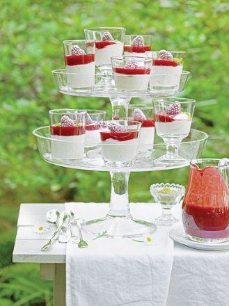 Jogurt pistacjowy z sosem malinowym. Letnie przyjęcie