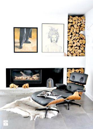 Drewno opałowe jest efektowną dekoracją.