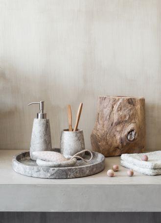 marmurowe dodatki do łazienki